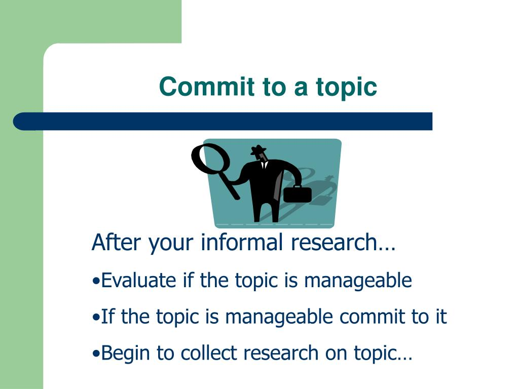 Commit to a topic