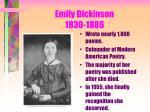 emily dickinson 1830 1886