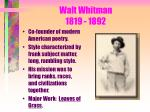 walt whitman 1819 1892