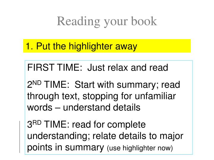 Reading your book