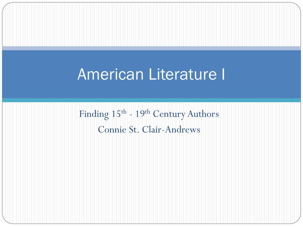american literature i l.
