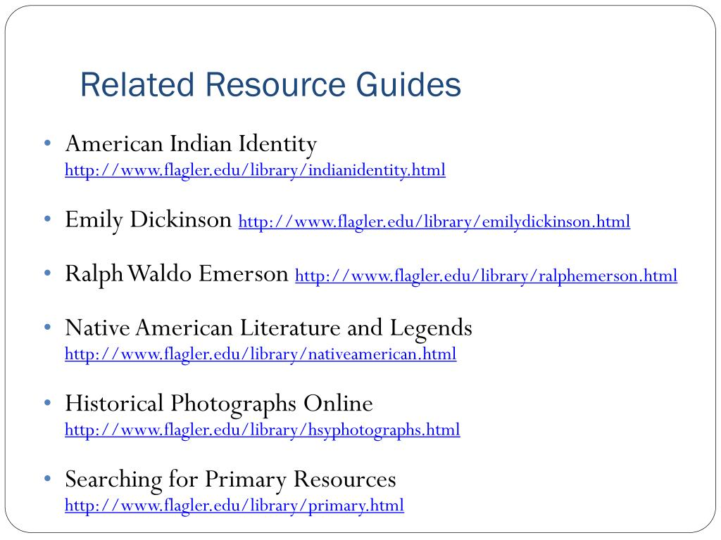 Related Resource Guides