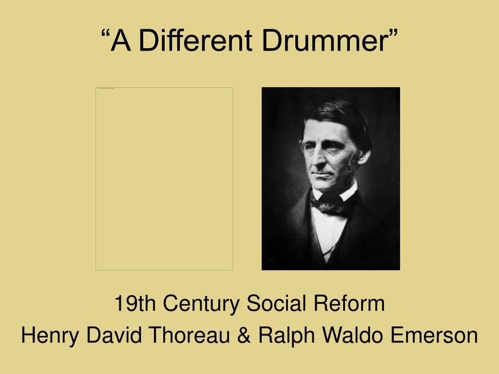 a different drummer l.