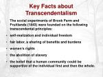 key facts about transcendentalism10
