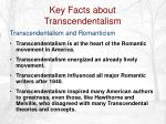 key facts about transcendentalism11