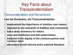 key facts about transcendentalism12