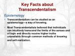 key facts about transcendentalism15
