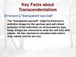 key facts about transcendentalism17