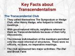 key facts about transcendentalism6