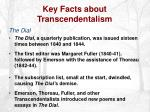 key facts about transcendentalism7