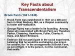 key facts about transcendentalism8