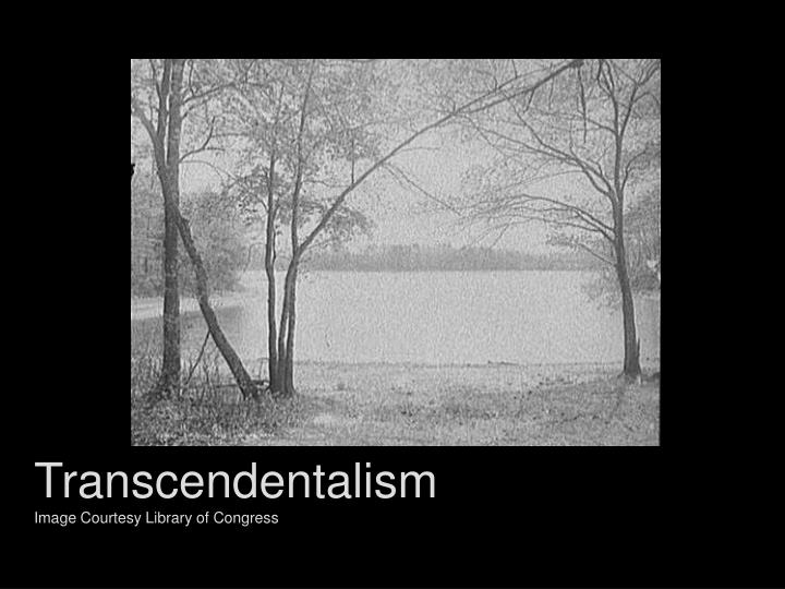 Transcendentalism image courtesy library of congress