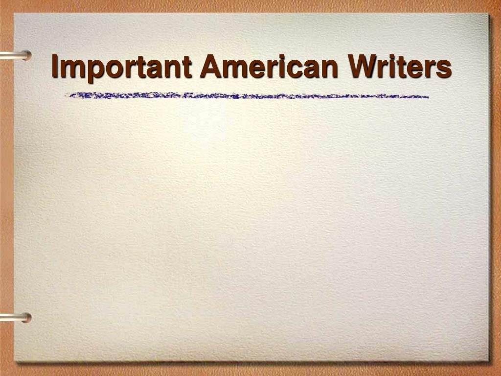 important american writers l.