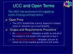 ucc and open terms