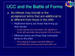 ucc and the battle of forms