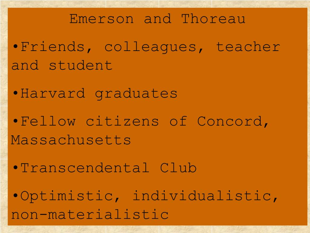 emerson and thoreau and their perspectives