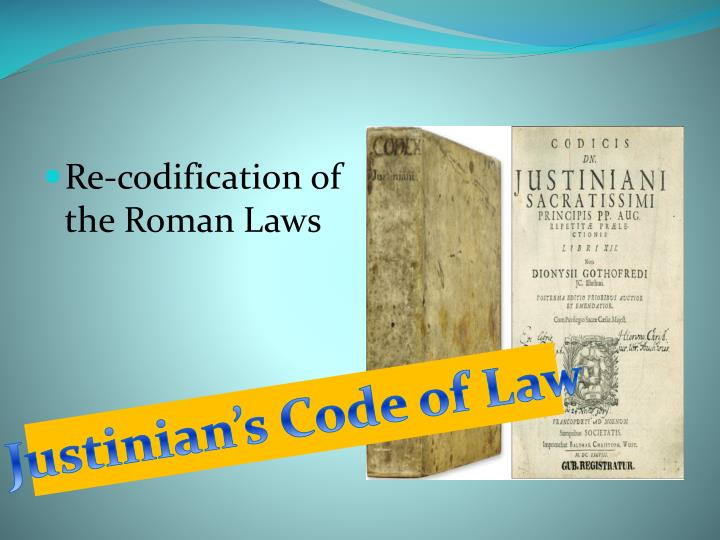 Re-codification of the Roman Laws