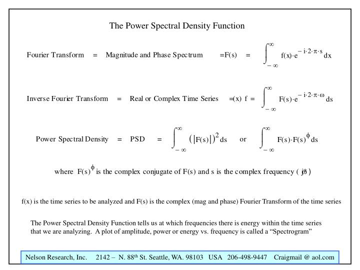 The Power Spectral Density Function