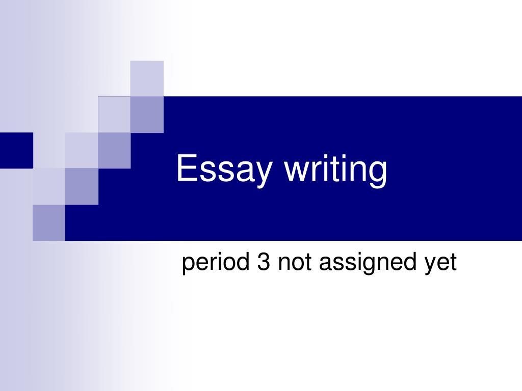essay writing l.