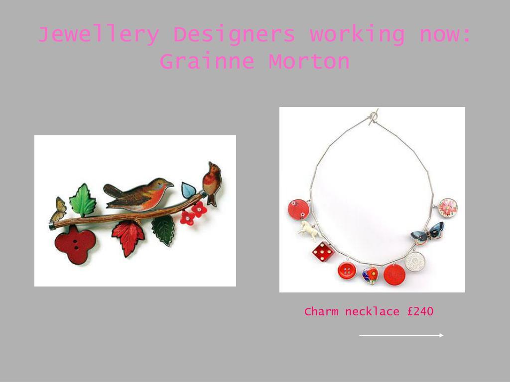 Jewellery Designers working now: