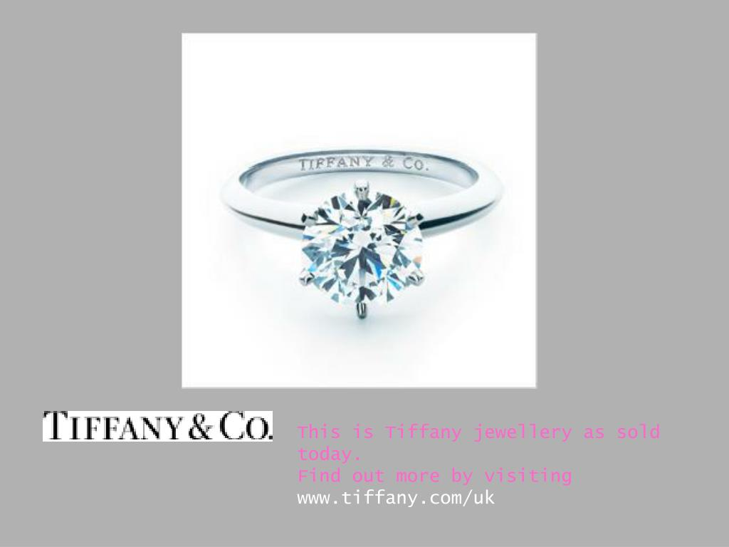 This is Tiffany jewellery as sold