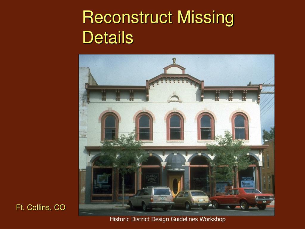 Reconstruct Missing Details