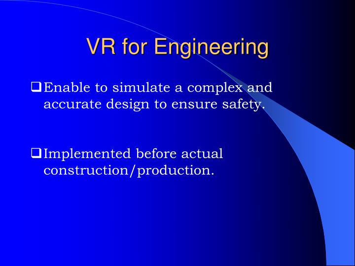Vr for engineering3
