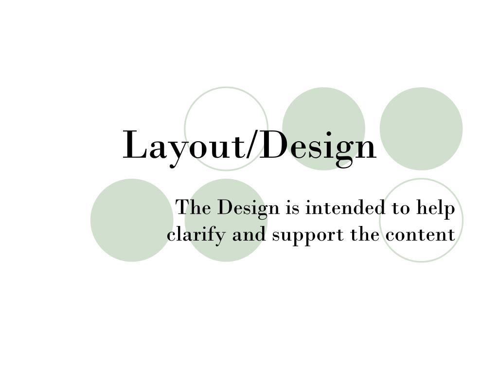 Layout/Design