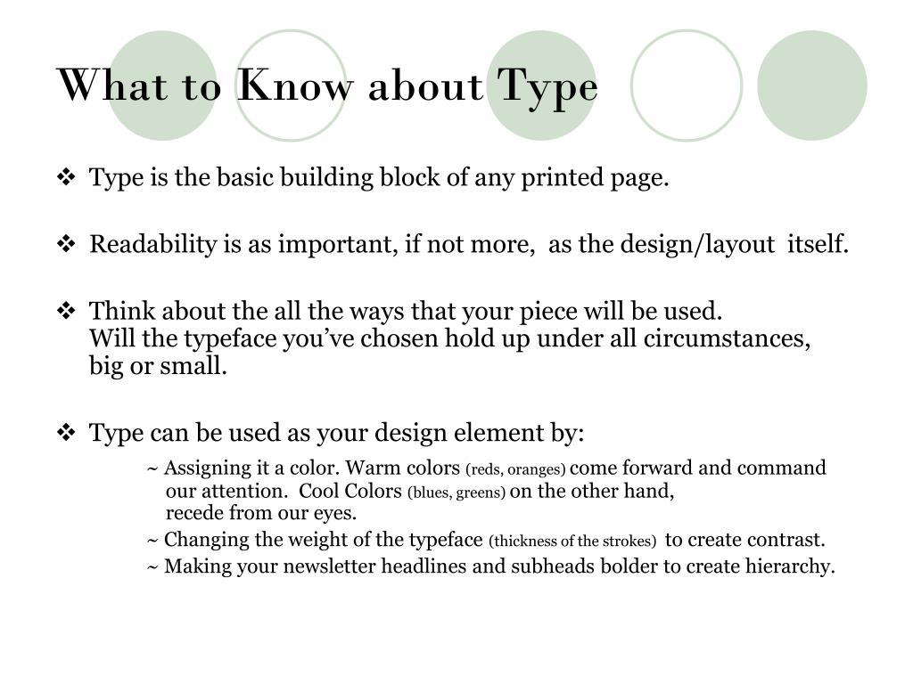 What to Know about Type
