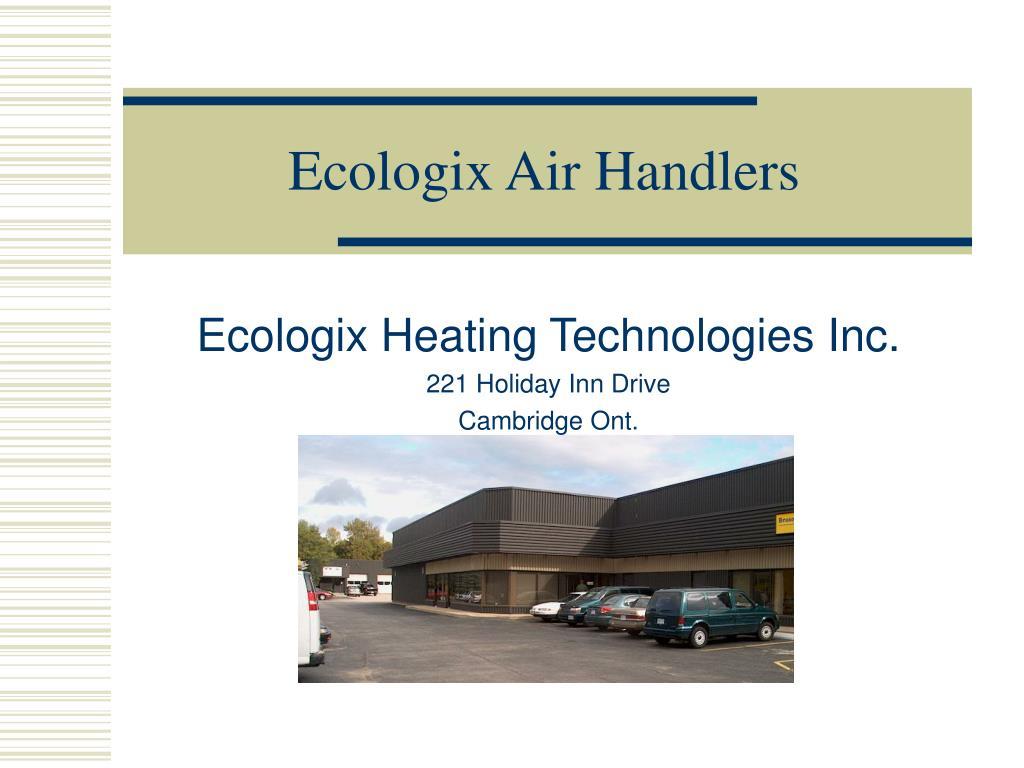 ecologix air handlers l.