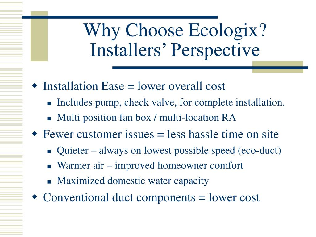 Why Choose Ecologix?