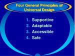 four general principles of universal design