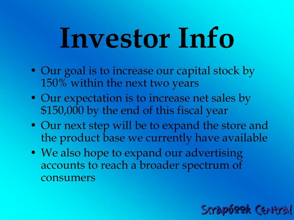 Investor Info