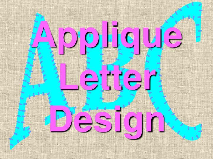 Applique letter design