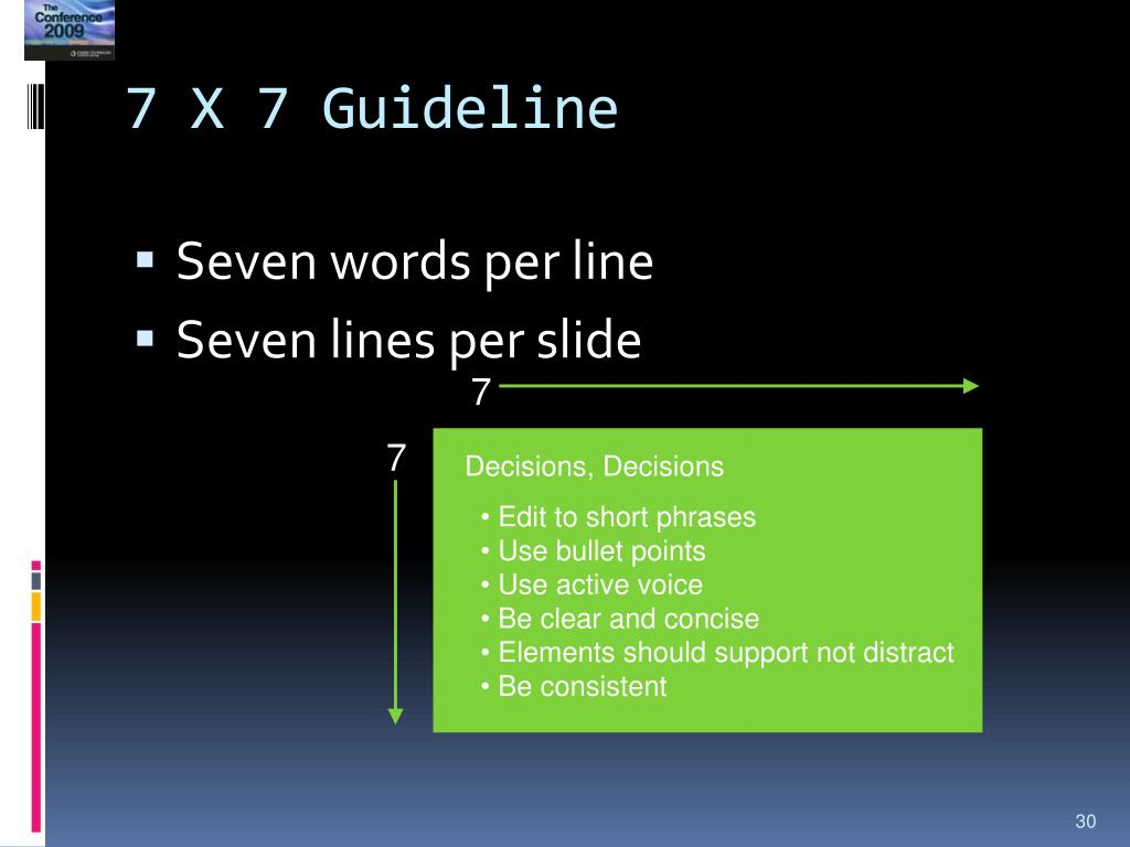 7 X 7 Guideline