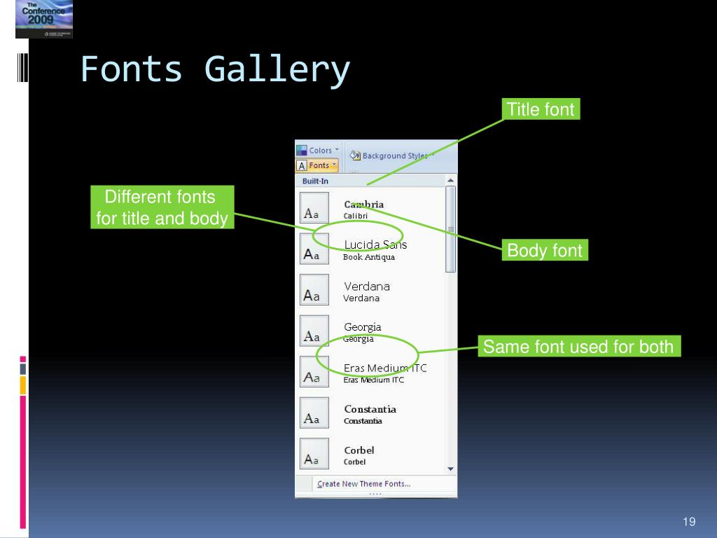 Fonts Gallery