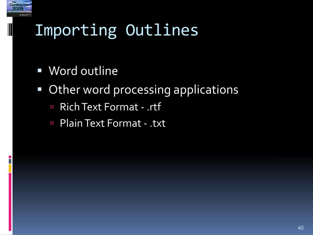 Importing Outlines