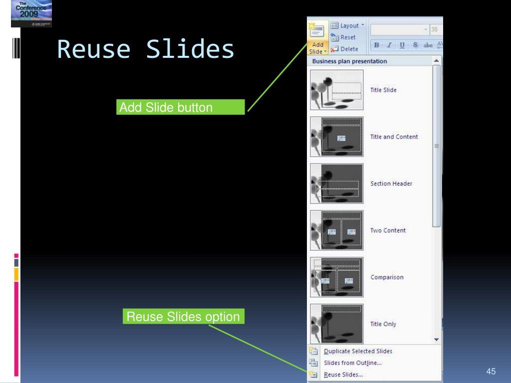 Reuse Slides