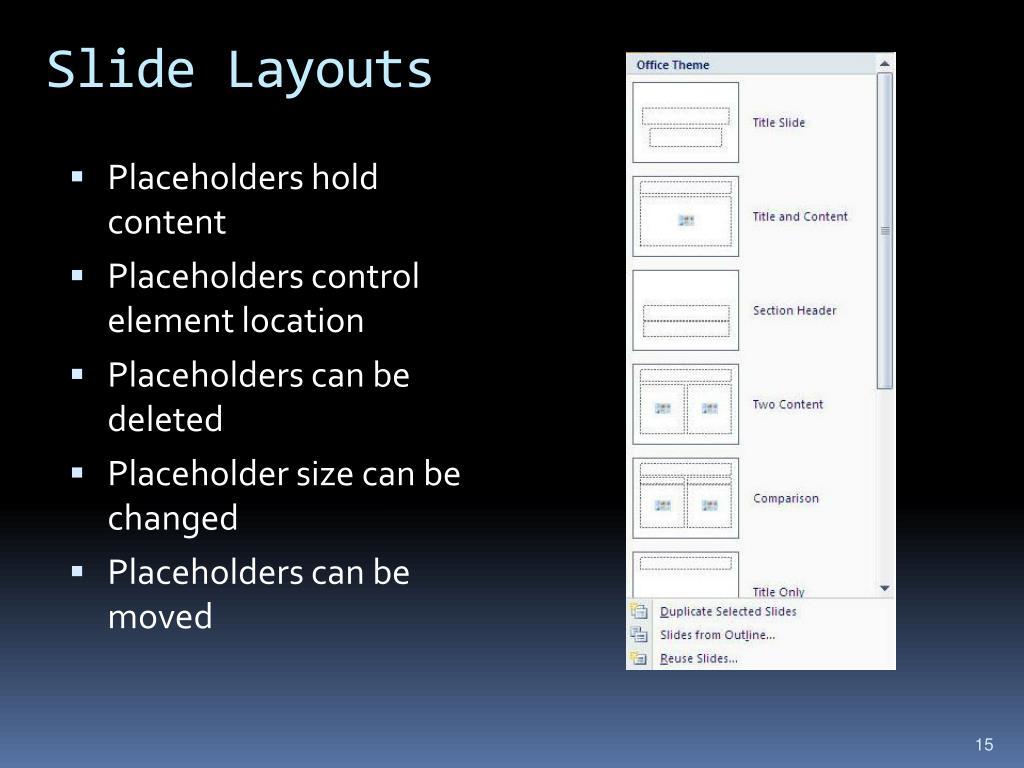 Slide Layouts
