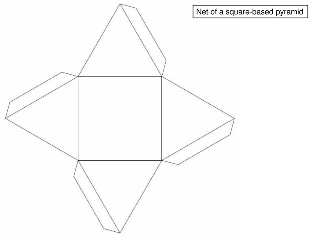 Net of a square-based pyramid