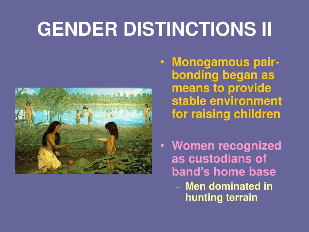 GENDER DISTINCTIONS II