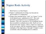 napier rods activity
