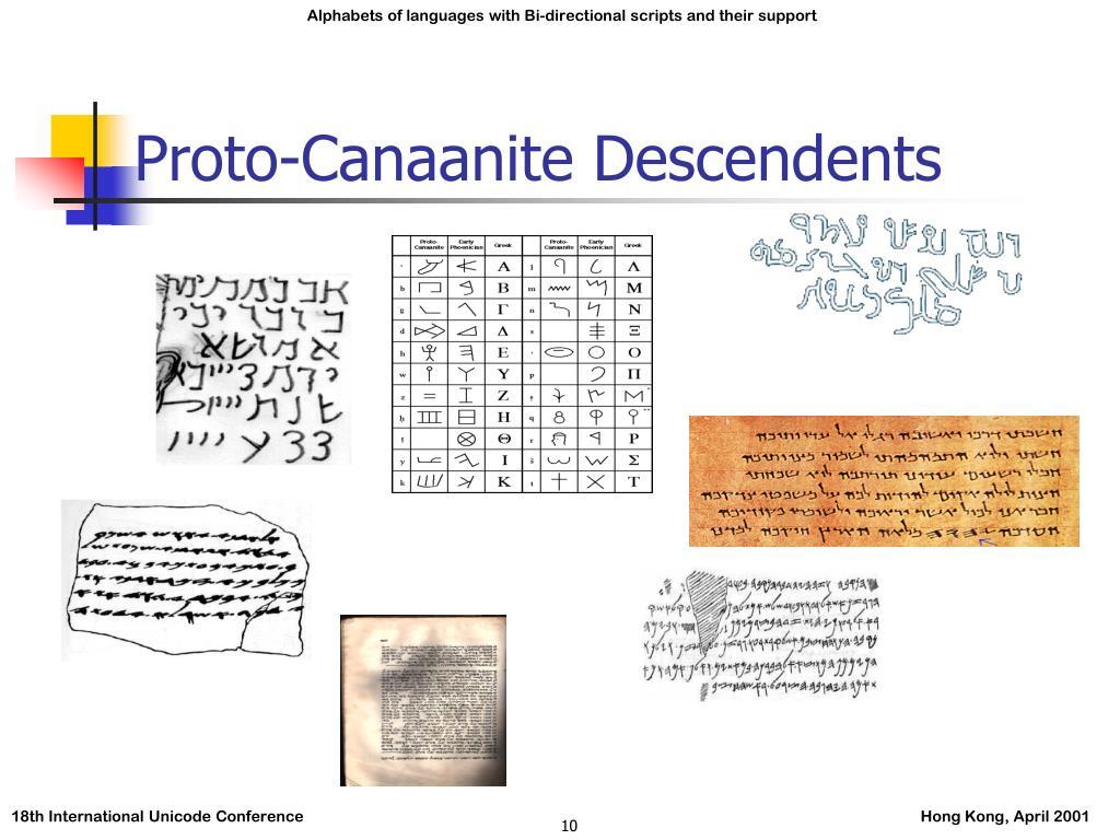Proto-Canaanite Descendents