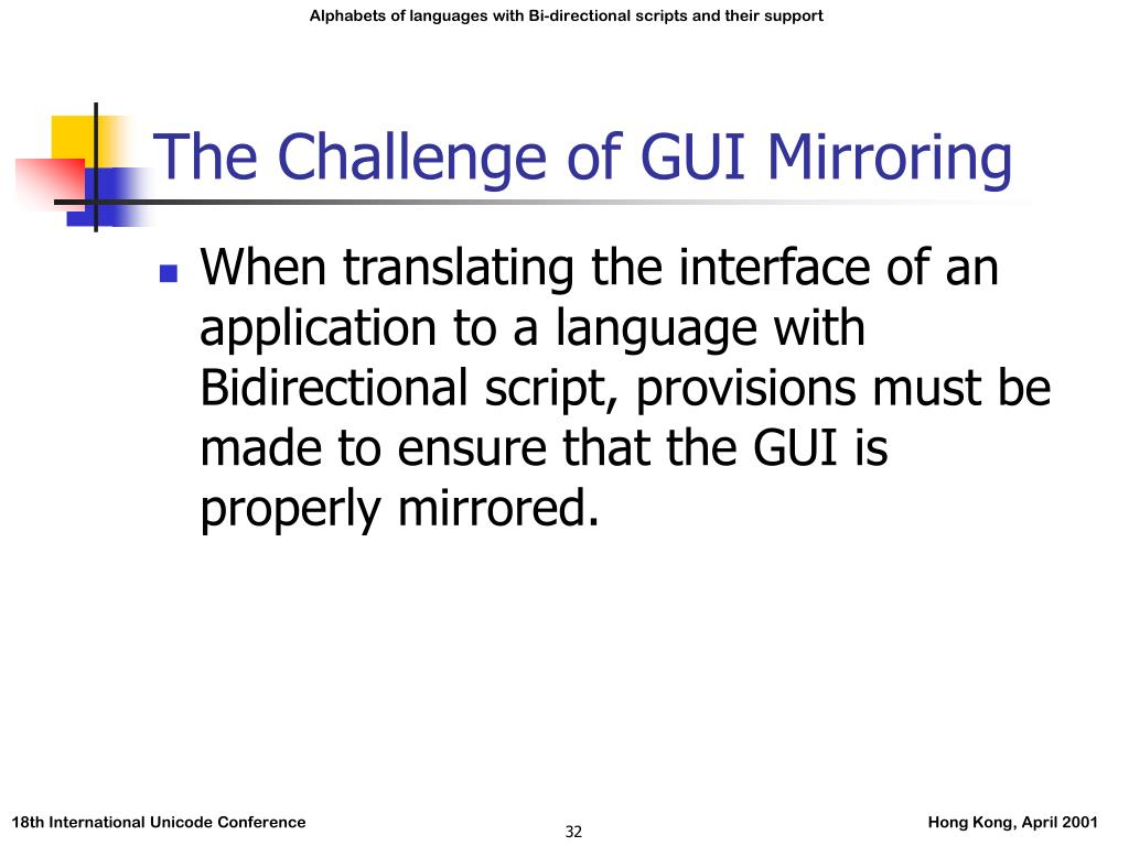 The Challenge of GUI Mirroring