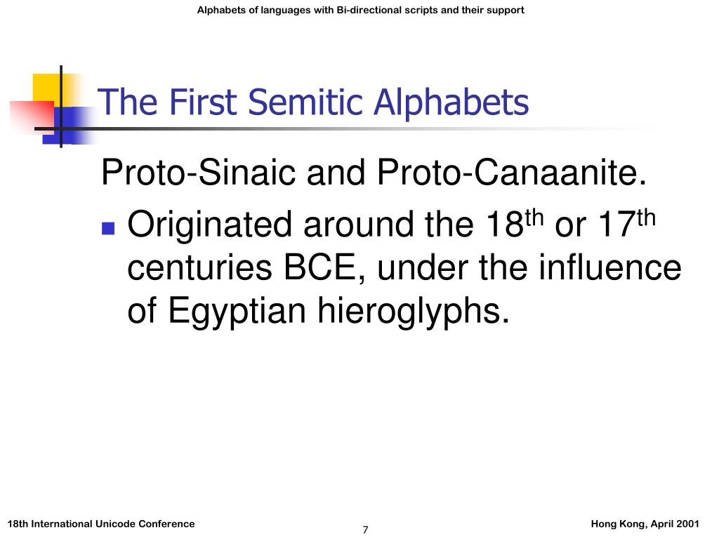 The First Semitic Alphabets