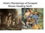 artist s renderings of escaped slaves heading north