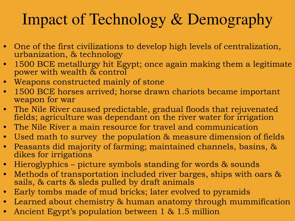 Impact of Technology & Demography