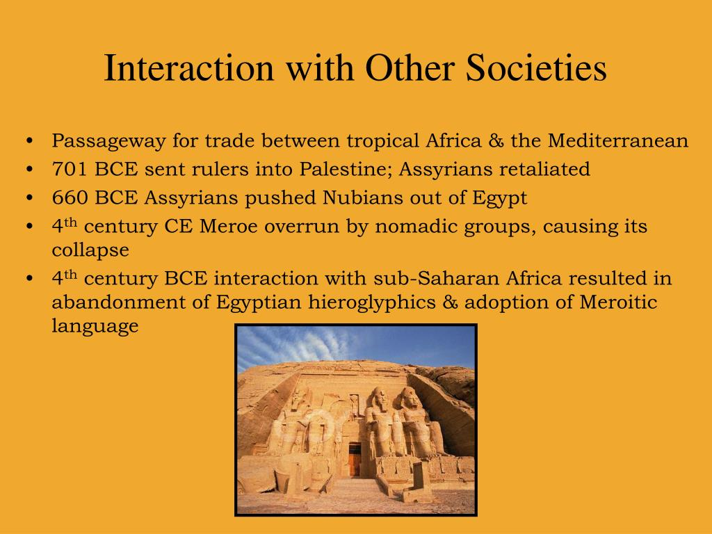 Interaction with Other Societies