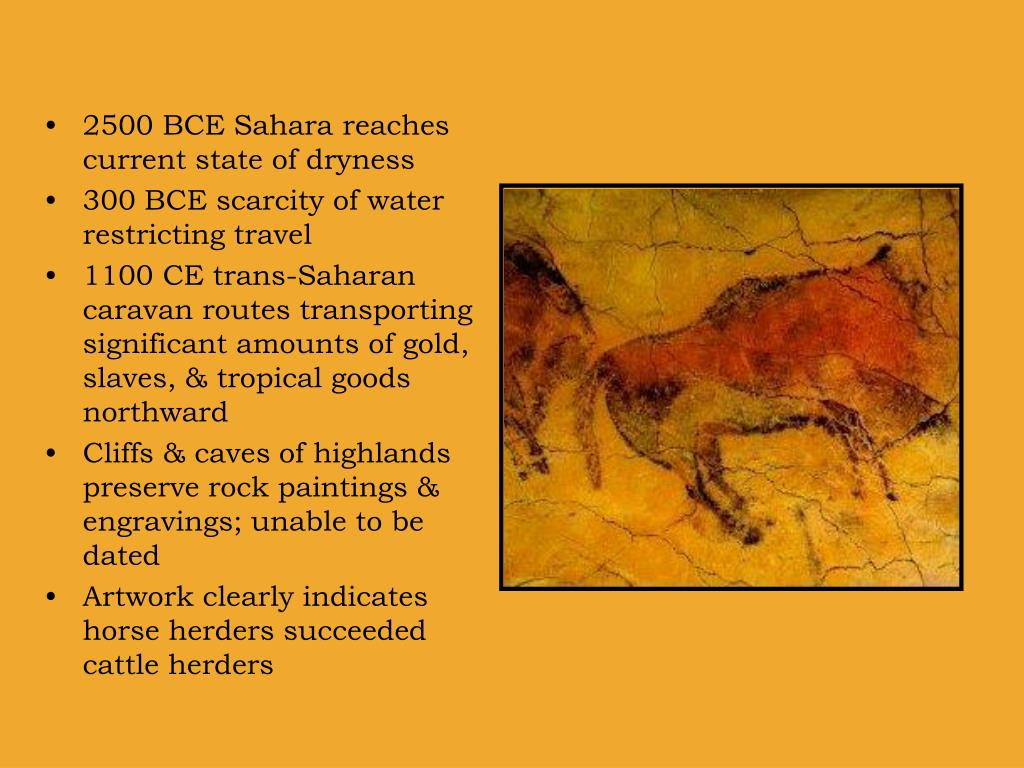 2500 BCE Sahara reaches current state of dryness