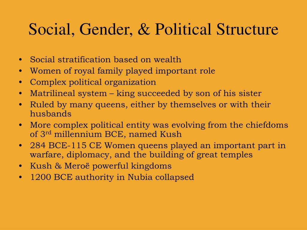 Social, Gender, & Political Structure